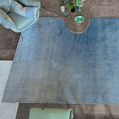 Phipps Sky - Hand Woven Shaded Rug | Designers Guild UK