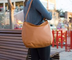 Leather hobo bag  Tan hobo purse  Crossbody hobo bag  by Laroll