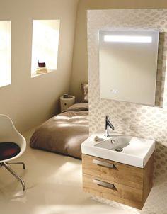 Salle de bains façon timbre d'office
