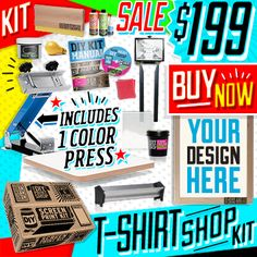 Wahoooo diy print shops new etsy shop the best do it yourself diy screen printing kit and do it yourself kits solutioingenieria Gallery
