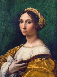 Portrait de jeune femme, musée des beaux-arts,Strasbourg  Raphaël