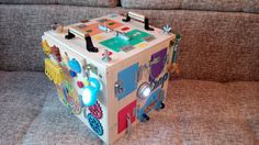 Busy box - 30 educational toys, christmas gifts, busy boards, activity board, sensory doard, sensory toys, wooden toy, latch board
