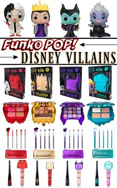 Click through for more info on the upcoming Funko POP! x Disney Villains Makeup Collection Eyeshadow Palette, Lip Gloss, Brush Bag Set & Eyeliner makeup products Funko POP x Disney Villains Makeup Collection Product Info & Availability Disney Villains Makeup, Disney Makeup, Makeup Collection Storage, Make Up Collection, Funko Pop, Bath Body Works, Eyeshadow Makeup, Makeup Cosmetics, Mac Makeup