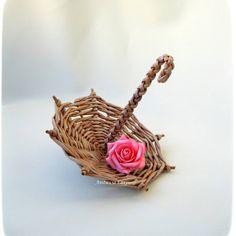 Зонтик для цветочных композиций. Диаметр 15см #зонтики#плетеныйзонт#цветочныекомпозиции#бумажнаялоза#ручнаяработа#сахалинхэндмэйд