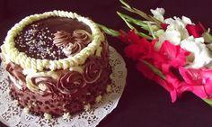 Tort cu ciocolată,vişine şi cremă de piersici ~ Bucate, vorbe şi arome I Foods, Sour Cream, Chocolate Cake, Cheesecake, Peach, Desserts, Chocolate Pound Cake, Cheesecake Cake, Chocolate Cobbler