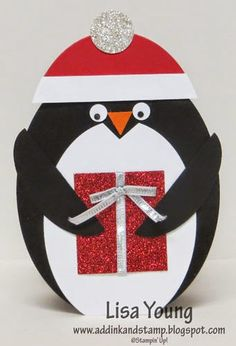 Add Ink and Stamp: Penguin Gift Card Holder