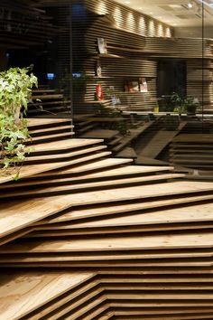 Modelled Topography Kengo Kuma & Associates - Shun Shoku Lounge by Gurunavi - Osaka