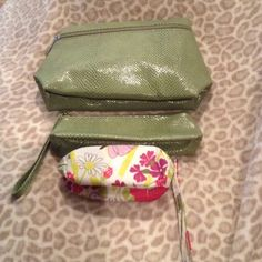 Clinique makeup cases Brand new Clinique makeup cases. All 3 included. Accessories