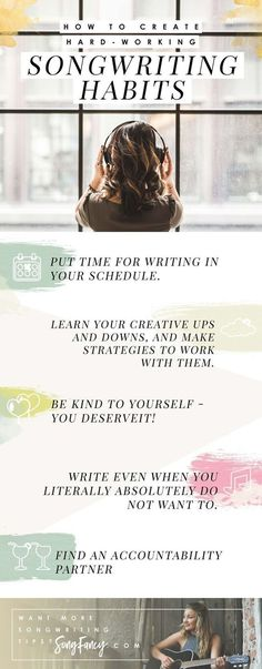 Songwriting tips and creative inspiration for the contemporary songwriter. Learn… There are some songs found in the world as given. We are proud to share these tracks known as the best songs. The best songs in the world often appear… Continue Reading → Writing Lyrics, Music Writing, Writing Tips, Writing Prompts, Singing Lessons, Singing Tips, Guitar Tips, Guitar Lessons, Art Lessons