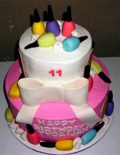 Nail Polish Cake Idea....