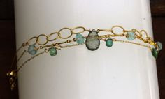 Gemstone stacking bracelets buy one or set birthstone by julwelry, $29.00