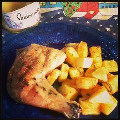 Pollo con papas, al horno.