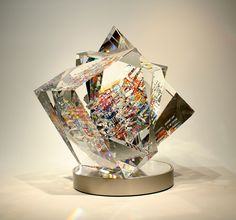 """Toland Sands - """"LARGE ISIS CUBE HELIOPOLIS DEO"""" ,18"""" x 18"""" x 18"""""""