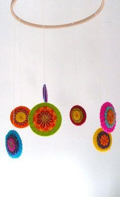 Colorful felt mobile. $29.99, via Etsy.