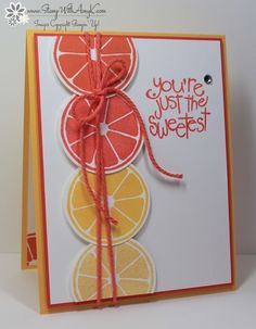 Great use of color by Amy. Her card uses the stamp set Apple of My Eye. All supplies from Stampin' Up!