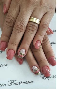 37 Trendy Ideas For Nails Maroon Flower Spring Nail Art, Spring Nails, Nails Ideias, Nails Design With Rhinestones, Nails First, Blue Nails, Maroon Nails, Rhinestone Nails, Flower Nails