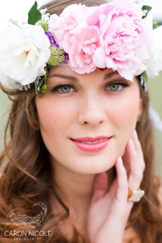 Bridal Floral Crown Flower Halos Are All The Rage Right Now This