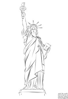 How to draw the Statue of Liberty | Step by step Drawing tutorials