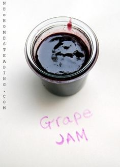 Black Grape Jam, Ethereal with Body and Style like No other... Jam that is.  recipe from Food52