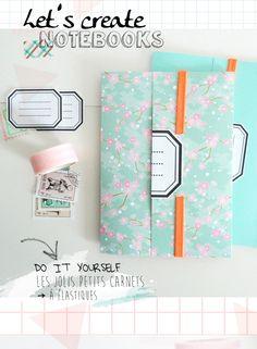 DIY carnets - Let's create notebooks - BohèmeCircus via ETSY
