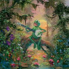 Disney Fine Painting James Coleman 1949 | American Impressionist painter