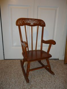 Rocking Chair Musical Childs Rocker (plays Brahms Lullaby) Sears And Roebuck…