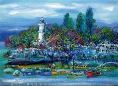 Mustafa Pilevneli Fener 50.00 x 70.00 cm. Tual üzerine yağlıboya