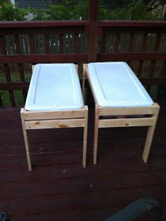 Make at home momma: DIY water/sand tables Just make sure to buy kids playing sand...