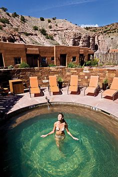 Incredibly relaxing Ojo Caliente Resort & Spa, outside of Albuquerque