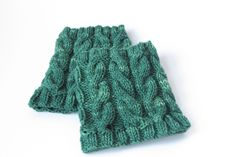 knitted boot cuffs patterns free | Knitting Pattern for August: Cabled Boot Cuffs | squidge & bean