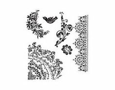Stampers Anonymous - Tim Holtz - Cling Mounted Rubber Stamp Set - Floral Tattoo  Stampers Anonymous - Tim Holtz - ATC - Cling Mounted Rubber Stamps - Flourish Collage    		Stampers Anonymous - Tim Holtz - Cling Mounted Rubber Stamp Set - Weathered Textiles    		Stampers Anonymous - Tim Holtz - Cling Mounted Rubber Stamp Set - Psychedelic Grunge