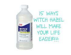 WITCH HAZEL IS A MIRACLE WORKER!!!