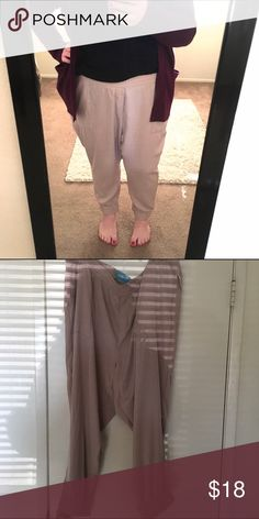 Blush pants Super cute! These pants are soooo comfortable! They're a blush pink color. They have a stretchy waistband. The ankles are cuffed and stretchy. New with tags. Fits an 18/20 pretty well. Old Navy Pants