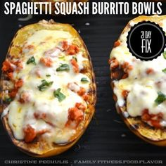 21 Day Fix - Spaghetti Squash Burrito Bowls