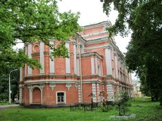 Eglise du Vénérable Serge de Radonège - Monastère de la Sainte Trinité Saint Serge - Strelna - Reconstruite de 1854 à 1861 par l'Architecte Alexey Maksimovich Gornostaev.