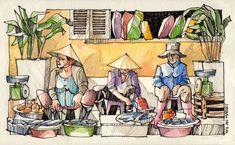 JR Sketches: Vietnam - January 2014 - #4