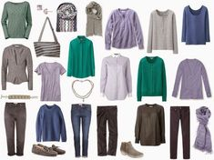 The Vivienne Files: A 4 by 4 Wardrobe in Lavender, Jade, Denim and Grey