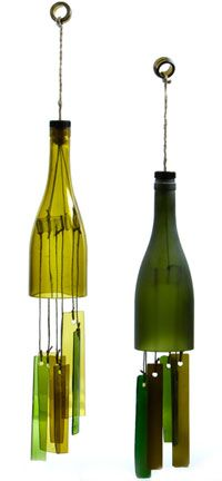 Wind Chimes from wine bottles -  sustainable-futures.us