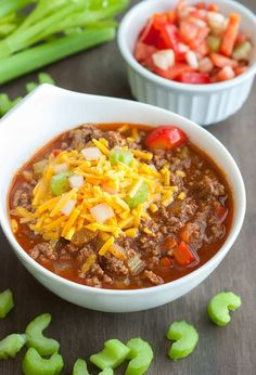 Low Carb Chili - easy to make, and perfect for chilly nights or game day parties.
