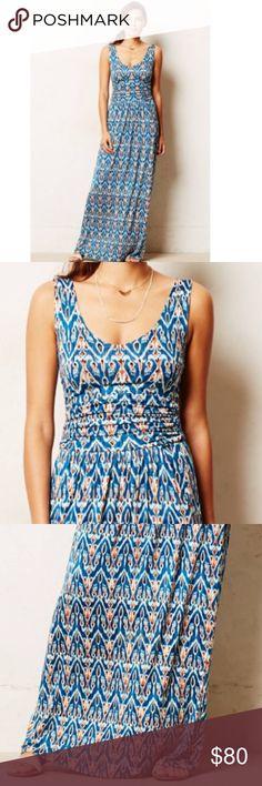 Anthropologie Talassemtane Maxi Dress Blue/multicolor by Vanessa Virginia Anthropologie Dresses Maxi