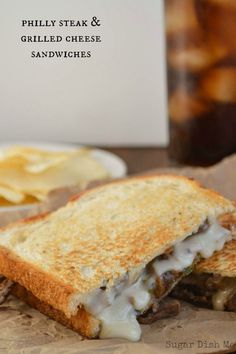 Philly Steak and Grilled Cheese Sandwich Recipe -- this is one of my ALL TIME favorite things I have ever made!