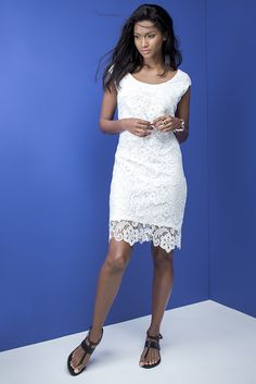 Lovely in lace. Lace Dress, White Dress, Feminine, Outfits, Dresses, Fashion, Women's, Vestidos, Moda