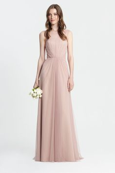 Monique Lhuillier Spring 2017 Bridesmaids - Style # 450375 - Rose
