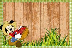 Mini Kit de Mickey Granjero para Imprimir Gratis. Mickey Mouse E Amigos, Mickey E Minnie Mouse, Mickey Mouse And Friends, Disney Mickey, Mickey Birthday, Mickey Party, Boy Birthday, Birthday Ideas, Free Printable Banner