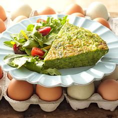 Fresh Picks: 7 Healthy Vegetarian Dinners. Shown: Fresh Herb and Cheese Frittata