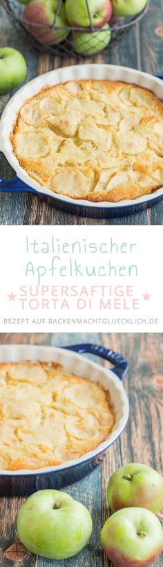 Apfelkuchen auf italienisch! Ein italienischer Apfelkuchen besteht aus besonders vielen Früchten und wenig Teig. Dieses Rezept für eine Torta di Mele ist etwas weniger süß.