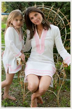 Mommy and Me Seersucker Tunic Dress | For mom & daughter