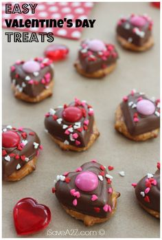 Valentine's day candies you can make on your own.  They are the perfect combo for sweet and salty!  I never have any left when I make these!