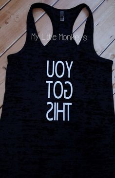 Burnout Racerback Tank - Exercise shirt - Motivational gym shirt - Workout…