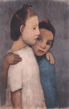 Paula Modersohn-Becker, Two Girls in White and Blue Dress, 1906.